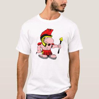 T-shirt Centurian blanc Sparton romain