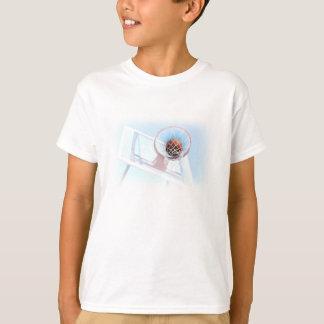 T-shirt Cercle de basket-ball avec le basket-ball