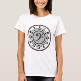 T-shirt Cercle de clef basse des cinquièmes