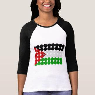 T-shirt Cercles de drapeau de la Palestine