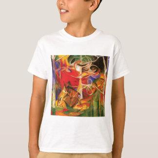 T-shirt Cerfs communs dans la forêt par Franz Marc
