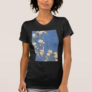 T-shirt Cerise et bouvreuil pleurants par Hokusai