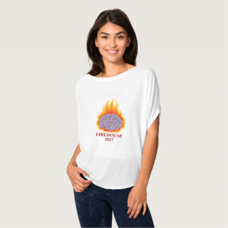 T-shirt Cerveau AMFirehouse Flowy de flamber des femmes