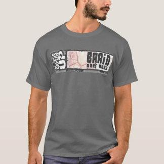 T-shirt cerveau au-dessus de facile