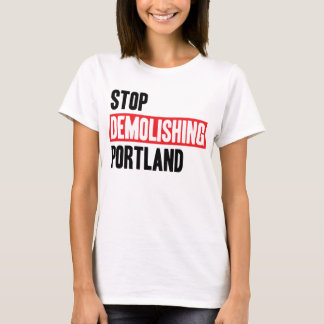 T-shirt Cessez de démolir Portland - couleurs claires,