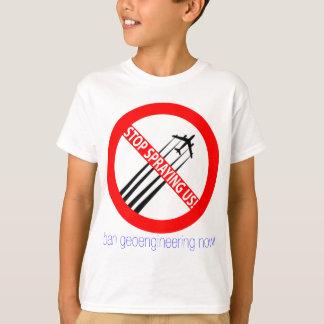 T-shirt Cessez de nous pulvériser - interdiction