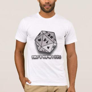 T-shirt C'est comment je roule d20