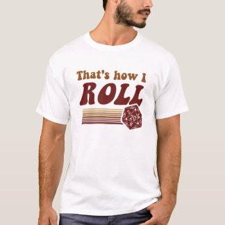 T-shirt C'est comment je roule des matrices du jeu d20