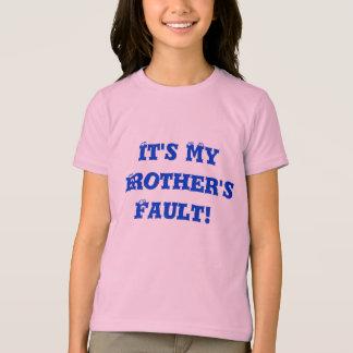 T-shirt C'est le défaut de mon frère !