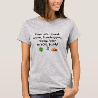 T-shirt C'est libéral de milliseconde, végétalien,