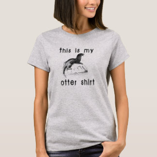 T-shirt C'est ma chemise de loutre
