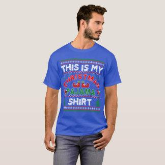 T-shirt c'est ma chemise de pyjama de Noël
