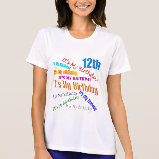 T-shirt C'est mes 12èmes cadeaux d'anniversaire