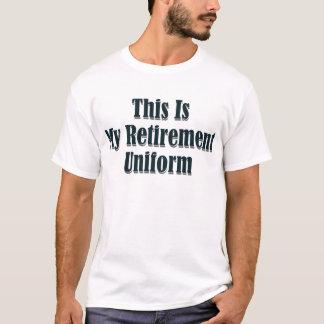 T-shirt C'est mon uniforme de retraite