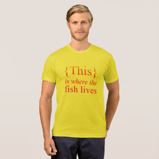 T-shirt C'est où le poisson vit pièce en t de soleil
