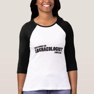 """T-shirt """"C'est quel archéologue ressemble"""" au raglan"""