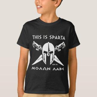T-shirt C'est Sparte - Molon Lave - blanc
