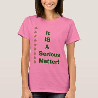 T-shirt C'EST   un Matière-VOTE   sérieux !