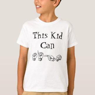 T-shirt Cet enfant peut signer