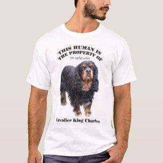 T-shirt Cet humain est la propriété de : cav noir et
