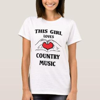 T-shirt Cette fille aime la musique country