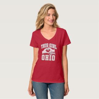 T-shirt Cette fille aime l'Ohio