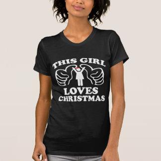 T-shirt Cette fille aime Noël