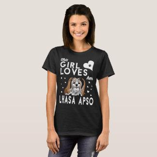 T-shirt Cette fille aime sa Lhasa Apso