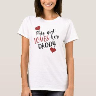T-shirt Cette fille AIME son papa