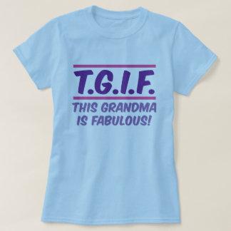 T-shirt Cette grand-maman est fabuleuse