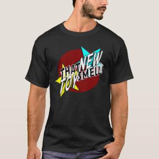 T-shirt Cette nouvelle pièce en t de logo d'odeur de jouet