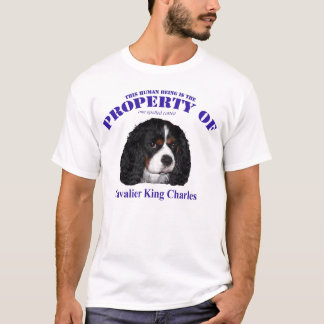T-shirt Cette propriété humaine du Roi cavalier Charles