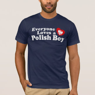 T-shirt Chacun aime un garçon polonais