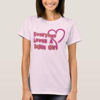 T-shirt Chacun aime une fille de Cajun