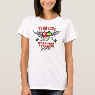 T-shirt Chacun aime une fille togolaise