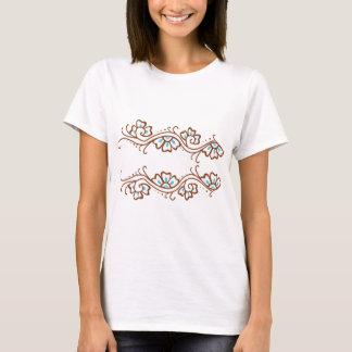 T-shirt Chaîne de fleur de henné