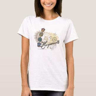 T-shirt Chambres de Harry Potter   Hogwarts - polychromes