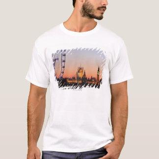 T-shirt Chambres du Parlement et de l'oeil de Londres