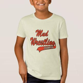 T-Shirt Champion de lutte de la boue de l'enfant