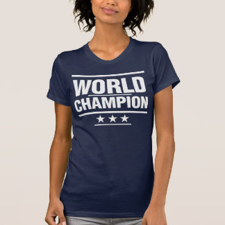T-shirt Champion du monde - blanc