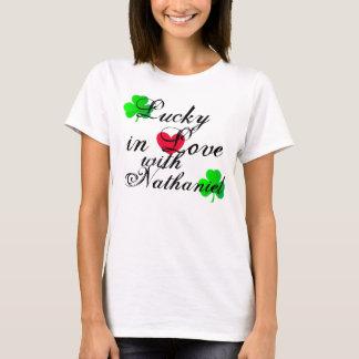 T-shirt Chanceux dans l'amour