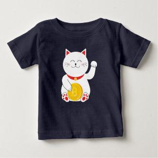 T-shirt chanceux d'enfant en bas âge de Bitcoin de