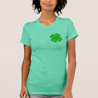 T-shirt chanceux né - customisé