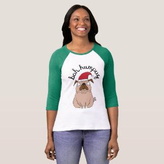T-shirt Chandail drôle de Noël de carlin de Bah Humpug