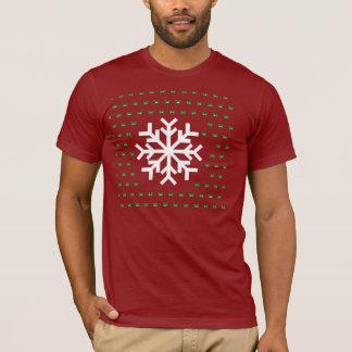 T-shirt Chandail laid de flocon de neige