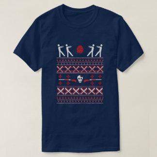 T-shirt Chandail laid de marche de Noël de zombi