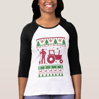 T-shirt Chandail laid de Noël d'agriculteur