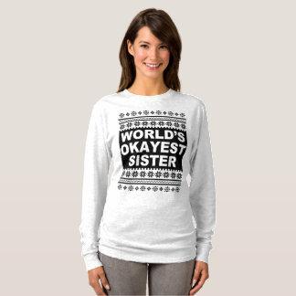T-shirt Chandail laid de Noël de chemise de soeur