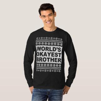 T-shirt Chandail laid de Noël de frère d'Okayest des