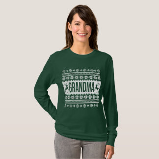 T-shirt Chandail laid de Noël de grand-maman
